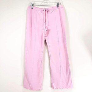 Freestyle Woman's Sz L Jogger Pants Pink 5% Cotton